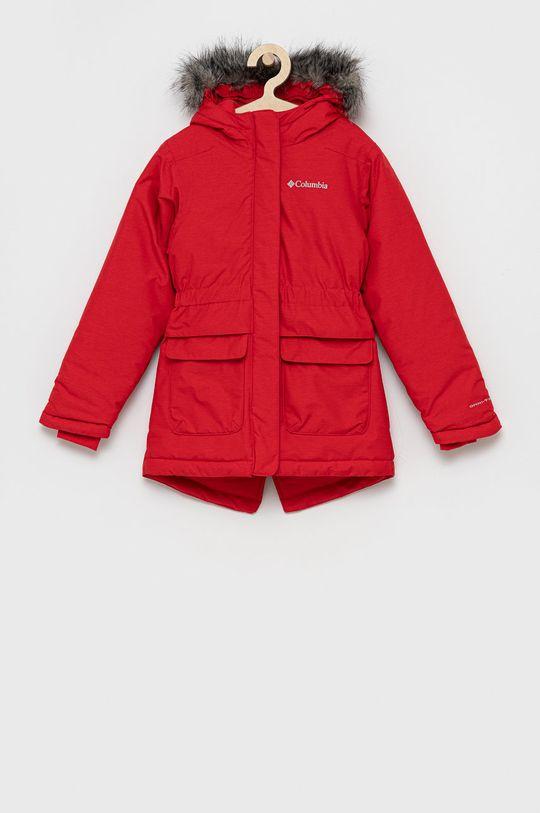 czerwony Columbia - Parka dziecięca Dziewczęcy