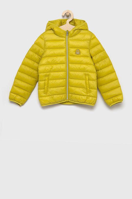 żółto - zielony United Colors of Benetton - Kurtka dziecięca Dziewczęcy