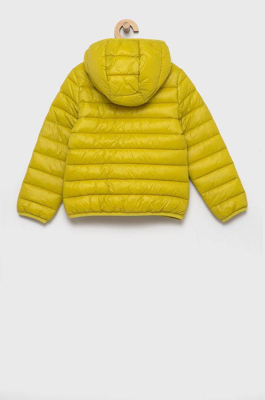 United Colors of Benetton - Kurtka dziecięca żółto - zielony