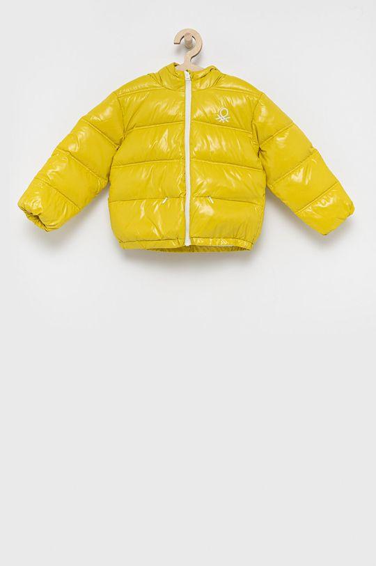 żółty United Colors of Benetton - Kurtka dziecięca Dziewczęcy