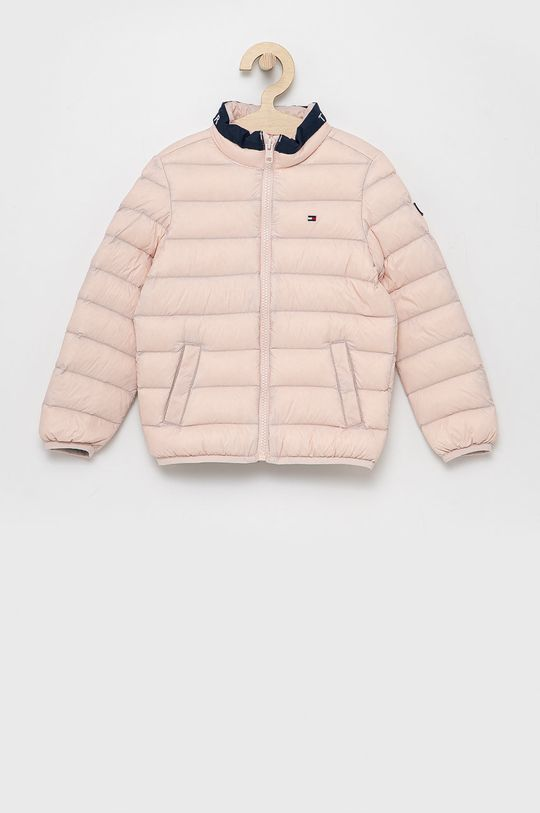 růžová Tommy Hilfiger - Dětská péřová bunda Dětský