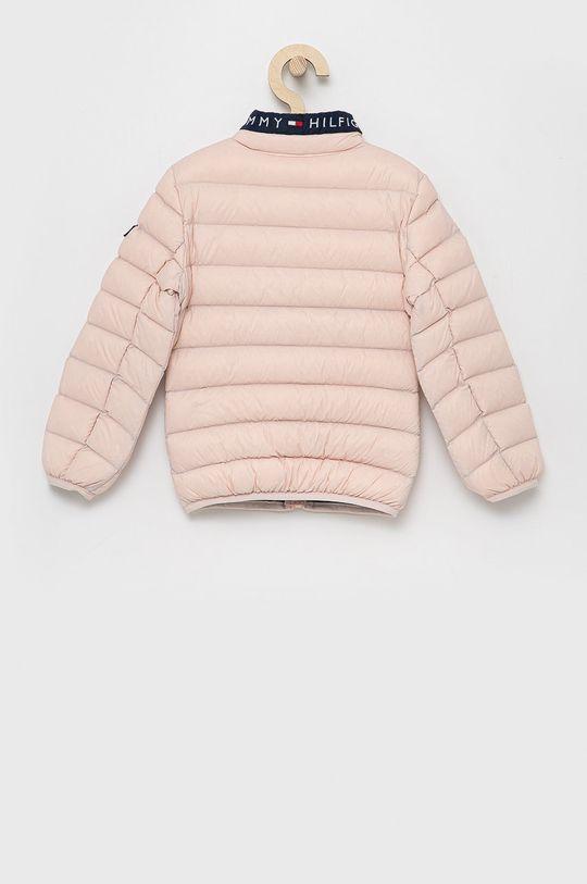 Tommy Hilfiger - Dětská péřová bunda růžová