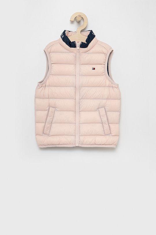 růžová Tommy Hilfiger - Dětská péřová vesta Dětský