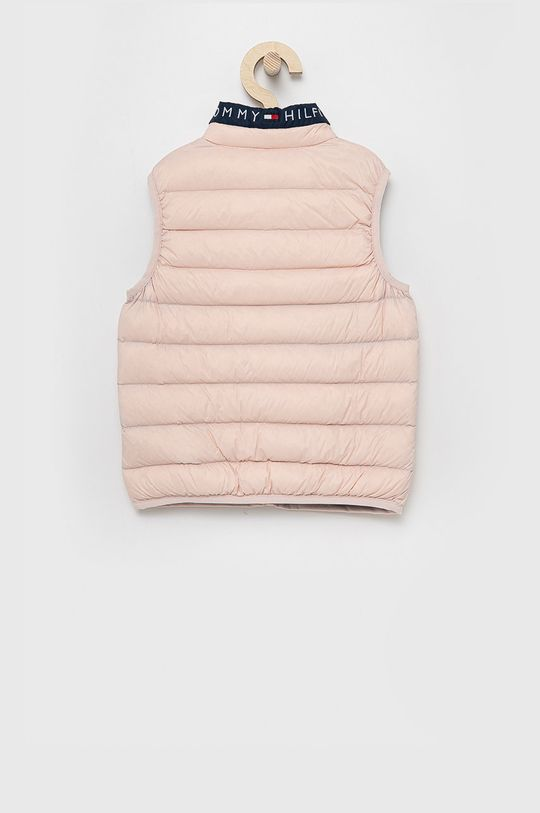 Tommy Hilfiger - Dětská péřová vesta růžová