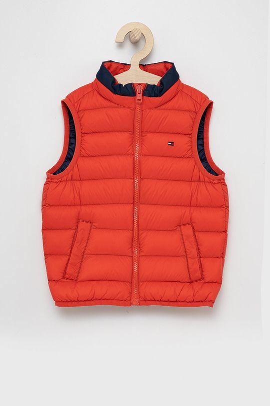 červená Tommy Hilfiger - Dětská péřová vesta Dětský