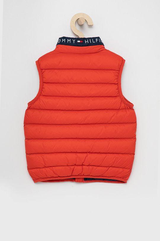 Tommy Hilfiger - Dětská péřová vesta červená