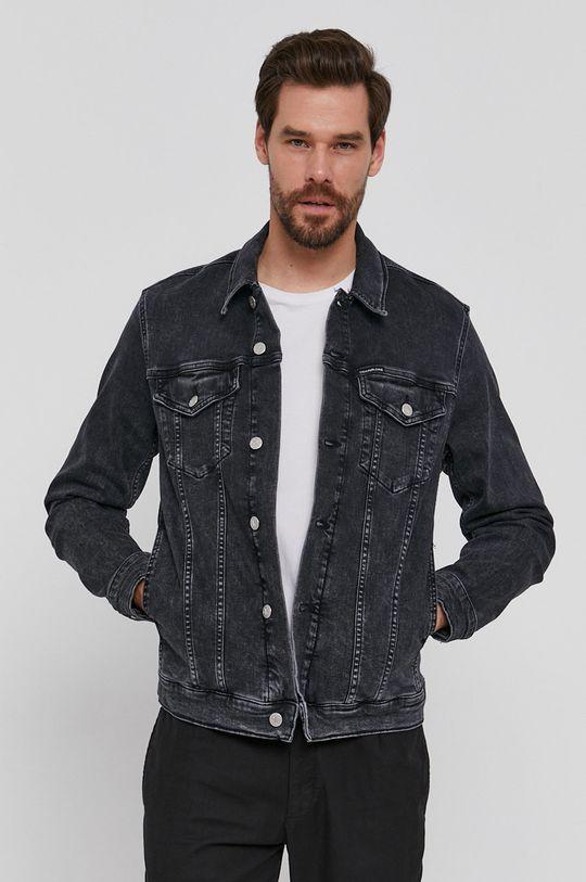 czarny Calvin Klein Jeans - Kurtka jeansowa Męski