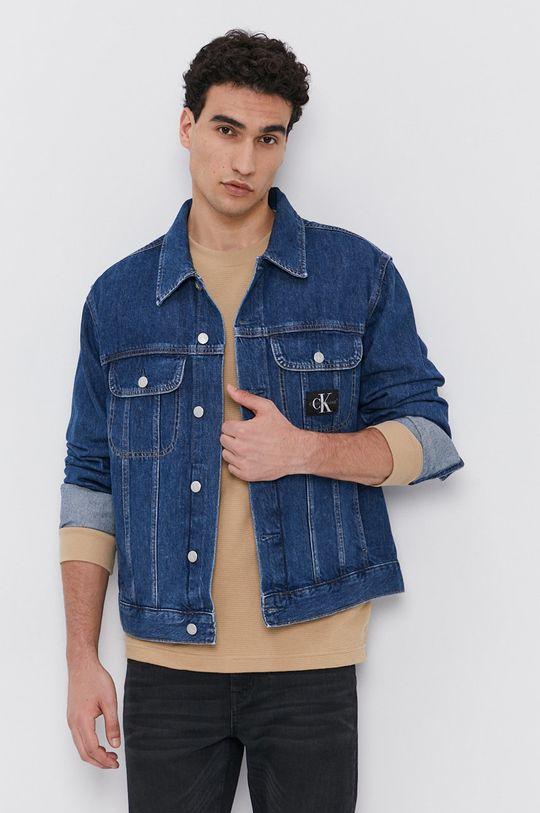 niebieski Calvin Klein Jeans - Kurtka jeansowa Męski