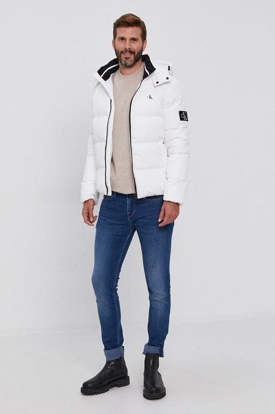 Calvin Klein Jeans - Péřová bunda bílá