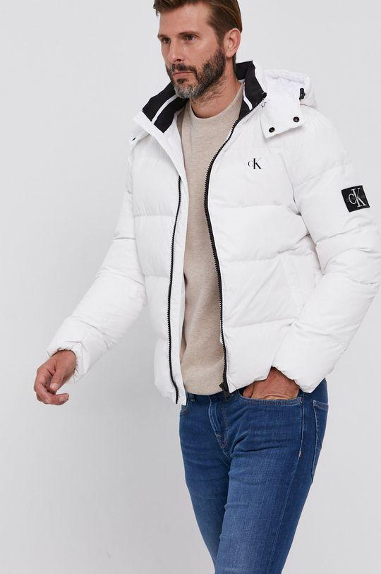 bílá Calvin Klein Jeans - Péřová bunda