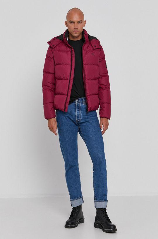 Calvin Klein Jeans - Kurtka puchowa purpurowy