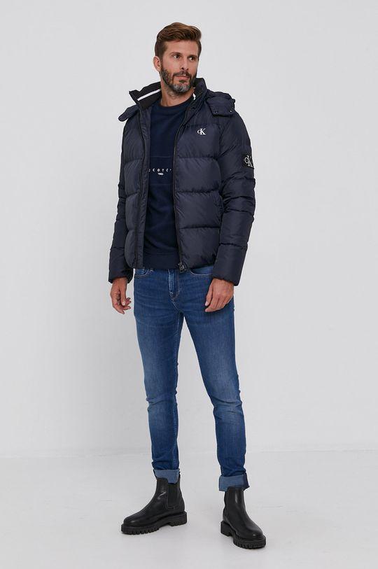 Calvin Klein Jeans - Péřová bunda námořnická modř