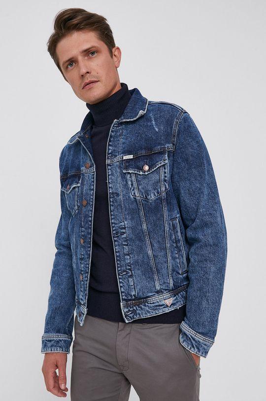 Guess - Kurtka jeansowa niebieski