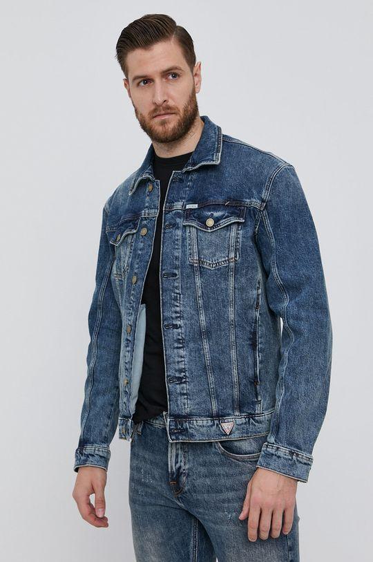 modrá Guess - Džínová bunda Pánský