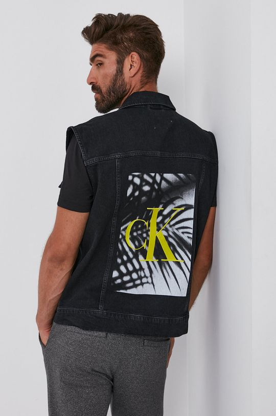 czarny Calvin Klein Jeans - Bezrękawnik jeansowy Męski
