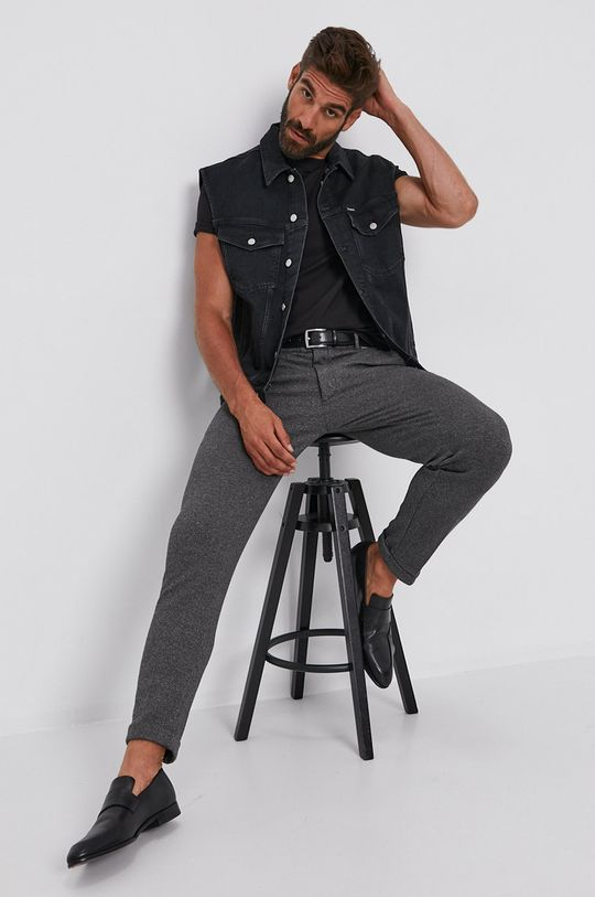 Calvin Klein Jeans - Bezrękawnik jeansowy czarny