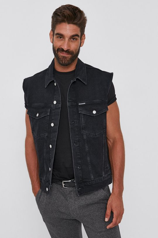 Calvin Klein Jeans - Bezrękawnik jeansowy 99 % Bawełna, 1 % Elastan