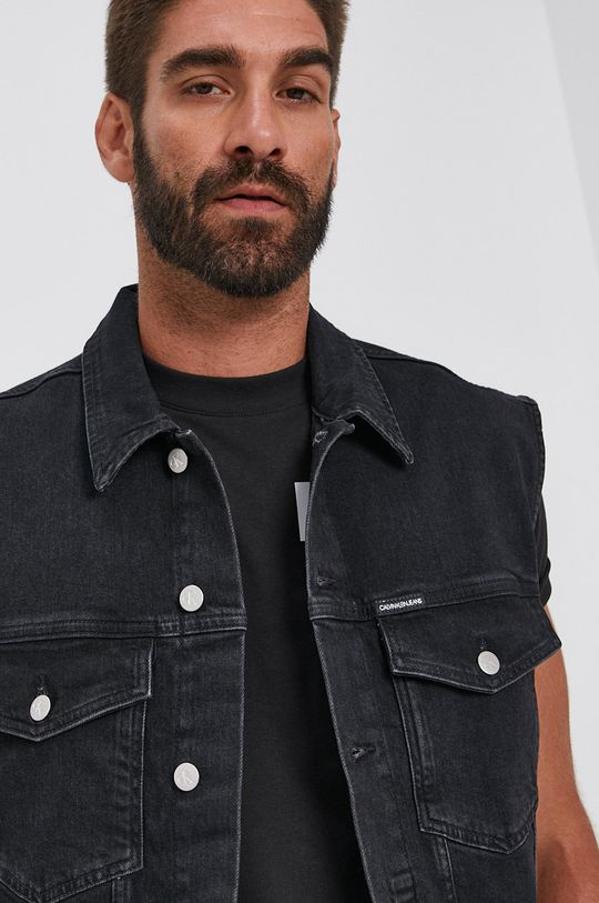 czarny Calvin Klein Jeans - Bezrękawnik jeansowy