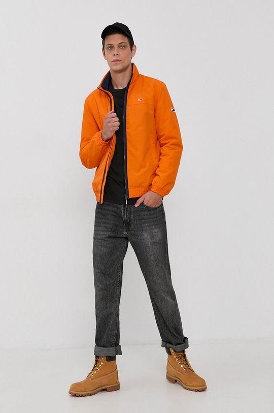 Tommy Jeans - Kurtka pomarańczowy