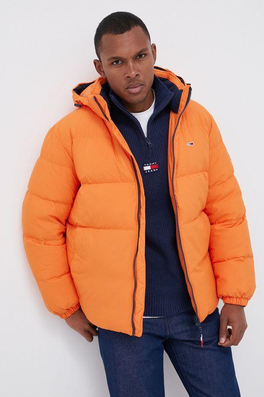 Tommy Jeans - Kurtka puchowa pomarańczowy