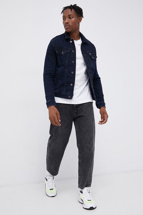 Tommy Jeans - Kurtka jeansowa granatowy