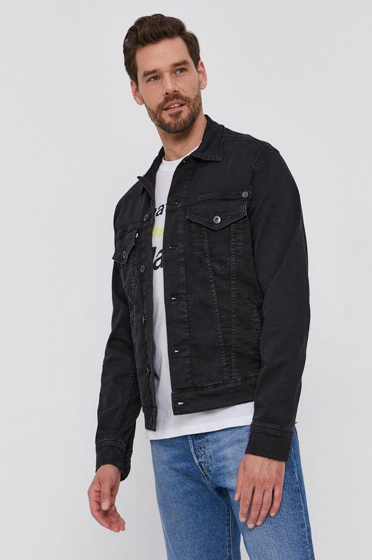 czarny Pepe Jeans - Kurtka jeansowa Pinner Męski