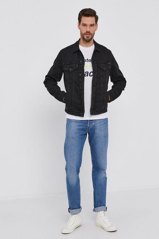 Pepe Jeans - Kurtka jeansowa Pinner czarny