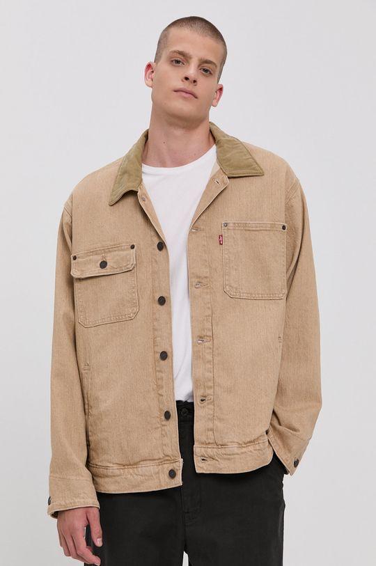 beżowy Levi's - Kurtka jeansowa Męski