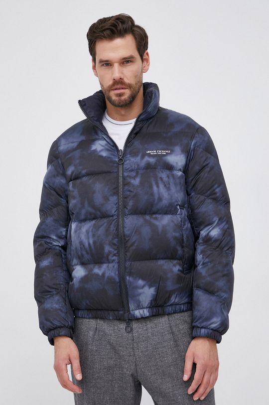 Armani Exchange - Αναστρέψιμο μπουφάν με επένδυση από πούπουλα σκούρο μπλε