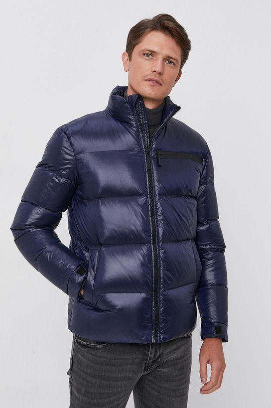 Trussardi - Péřová bunda námořnická modř
