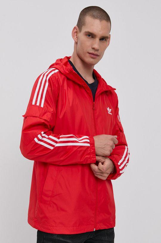 červená adidas Originals - Bunda Pánský