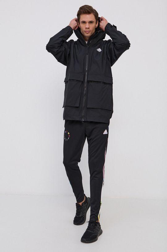adidas Performance - Kurtka przeciwdeszczowa czarny