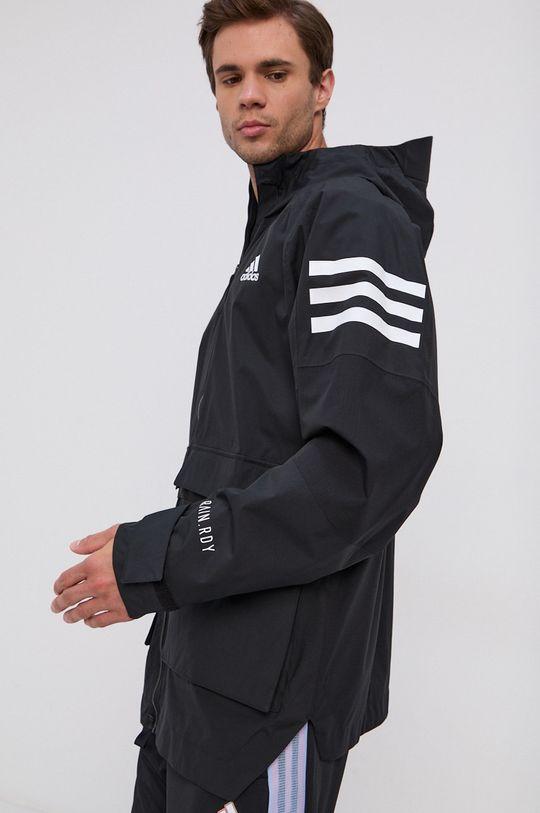 czarny adidas Performance - Kurtka przeciwdeszczowa