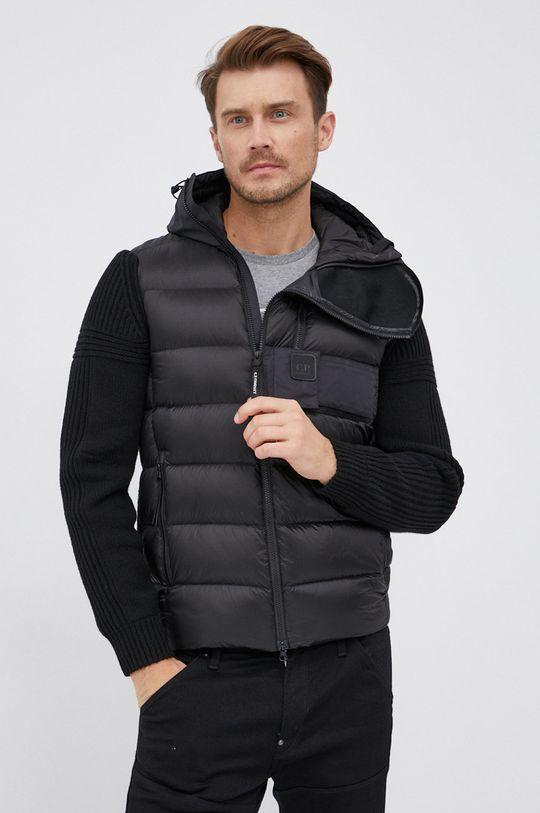 černá C.P. Company - Péřová bunda se směsí vlny Pánský
