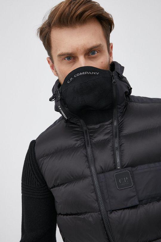černá C.P. Company - Péřová bunda se směsí vlny