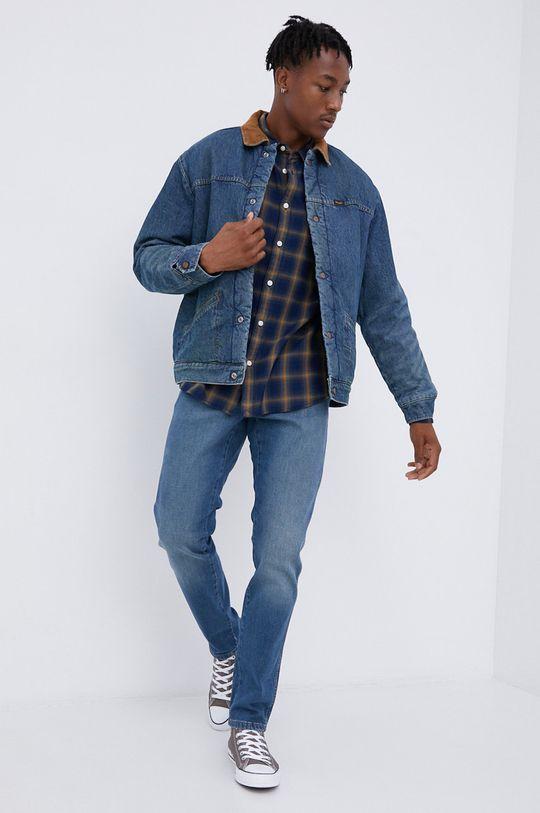 Wrangler - Kurtka jeansowa bawełniana Heritage Sherpa JKT niebieski