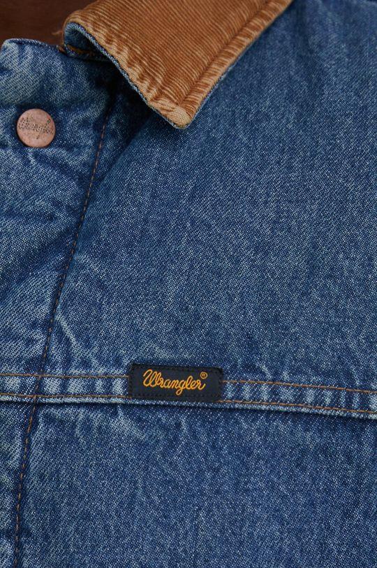 Wrangler - Kurtka jeansowa bawełniana Heritage Sherpa JKT Męski