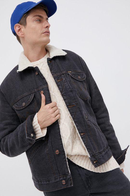 szary Wrangler - Kurtka jeansowa Męski