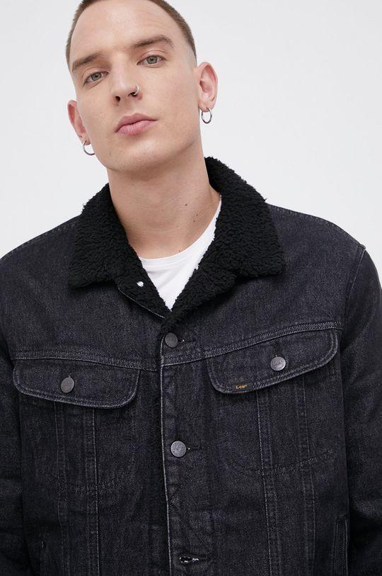 czarny Lee - Kurtka jeansowa