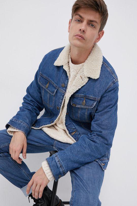 niebieski Lee - Kurtka jeansowa Męski