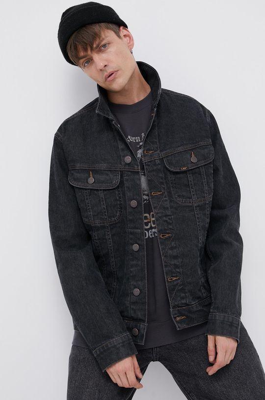 czarny Lee - Kurtka jeansowa Męski