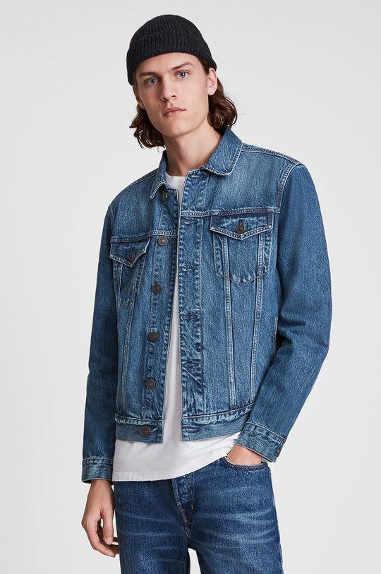 niebieski AllSaints - Kurtka jeansowa Męski