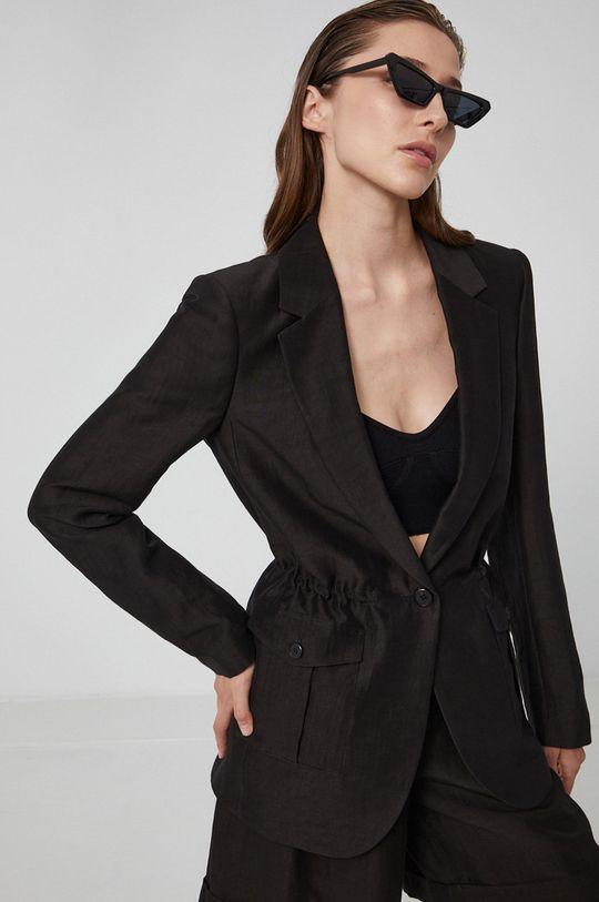 czarny Karl Lagerfeld - Marynarka Damski