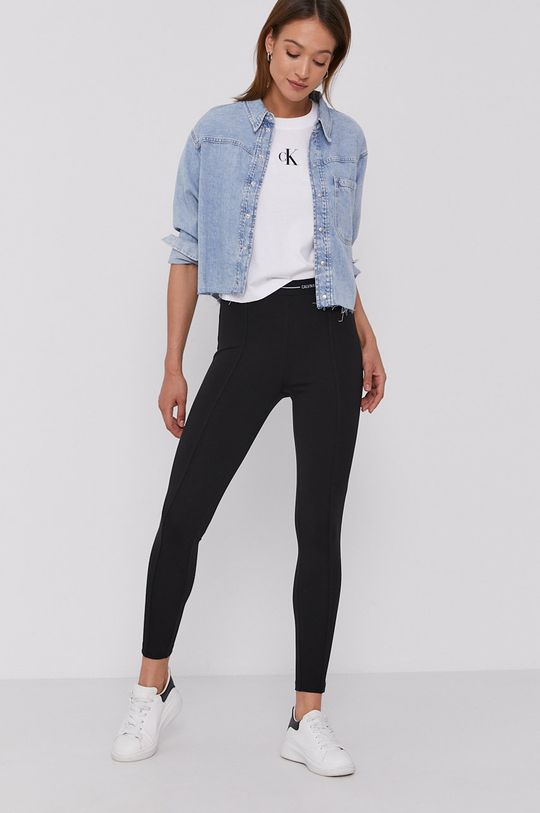 Calvin Klein Jeans - Legíny čierna