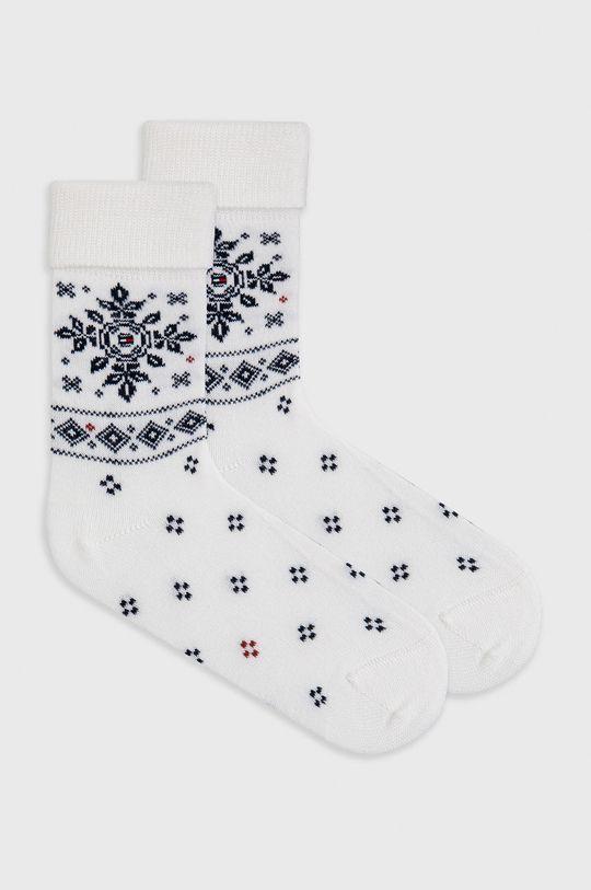bílá Tommy Hilfiger - Ponožky ze směsi vlny Dámský