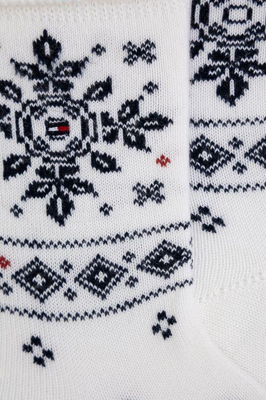 Tommy Hilfiger - Ponožky ze směsi vlny bílá