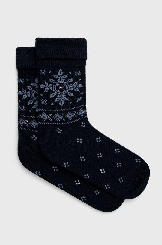 námořnická modř Tommy Hilfiger - Ponožky ze směsi vlny Dámský