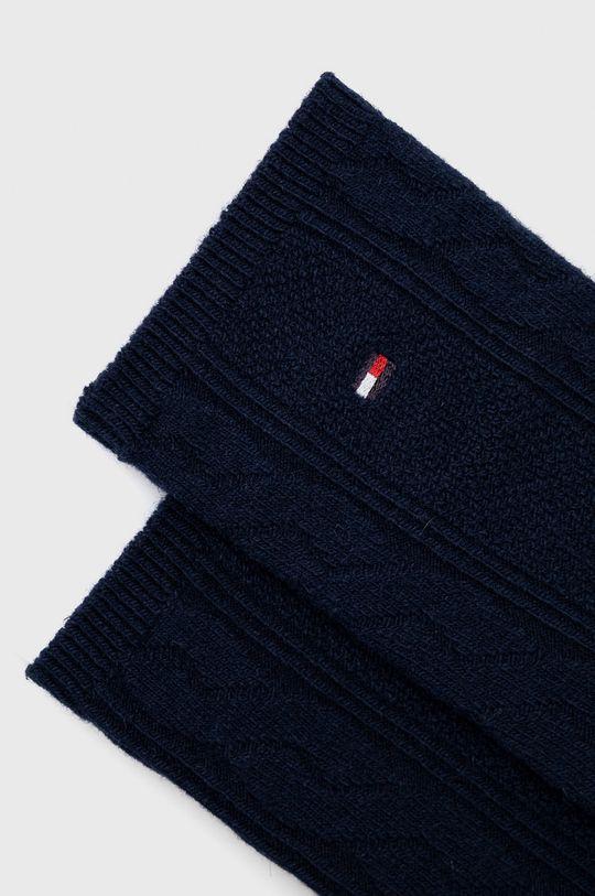 Tommy Hilfiger - Ponožky ze směsi vlny námořnická modř
