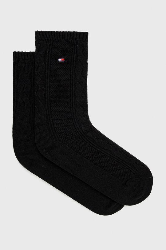 černá Tommy Hilfiger - Ponožky ze směsi vlny Dámský
