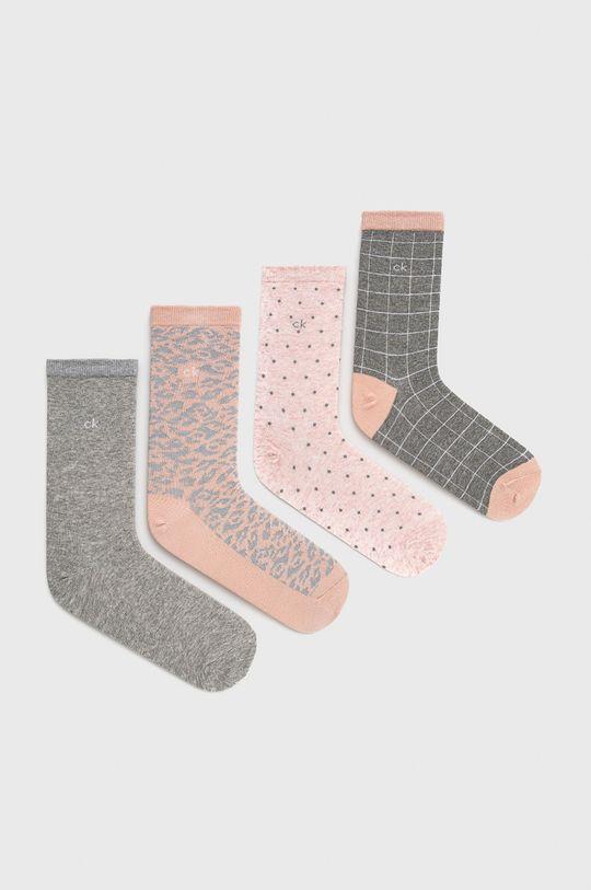 starorůžová Calvin Klein - Ponožky (4-pack) Dámský